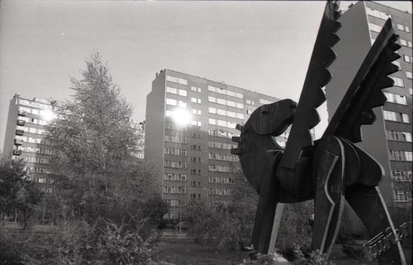 LSM w Lublinie - rzeźba Pegaz autorstwa Jana Borowczaka
