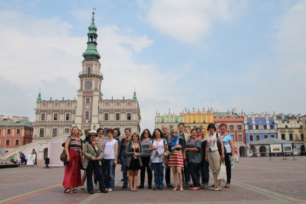 In Zamosc - study tour of the region