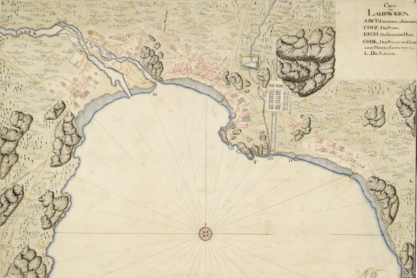 Larvik. Map from 1688