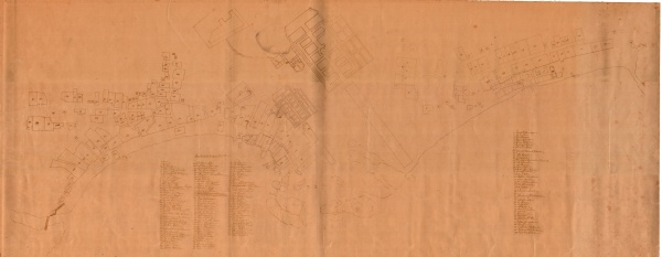 Map of Larvik dating back to 1688