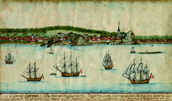 View of Larvik from 1785