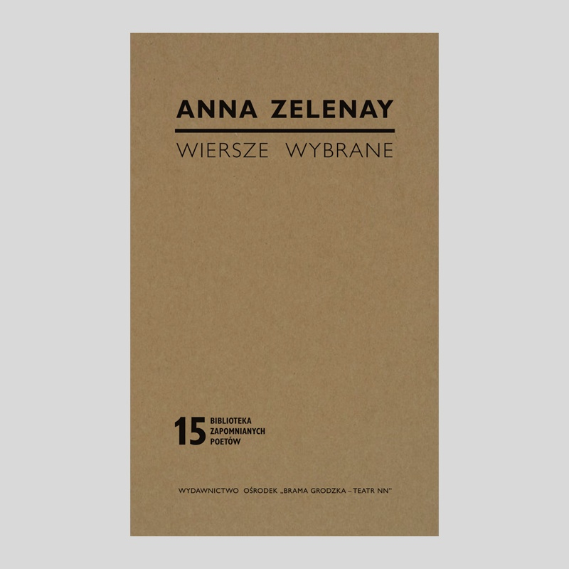 Anna Zelenay Wiersze Wybrane Wydawnictwo Teatr Nn