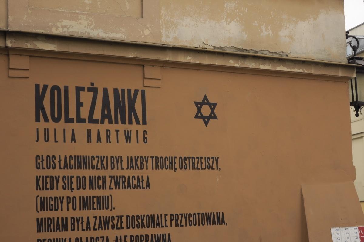 Murale na terenie getta na Podzamczu