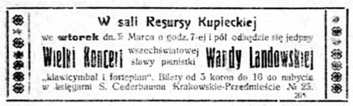 koncert Wandy Landowskiej