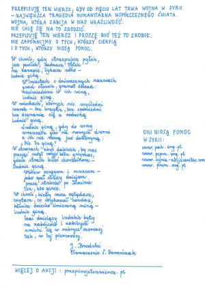 Przepisuję Ten Wiersz Czekając Na Miasto Poezji 2016