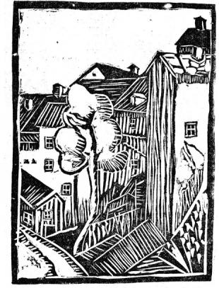Rywka Berger, Zaułek lubelskiej dzielnicy żydowskiej, Podzamcze