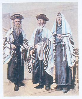 """Żydowscy uczeni. Ilustracja z książki Andrzeja  Żbikowskiego """"Żydzi, antysemityzm, Holocaust"""""""