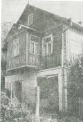 Dom żydowski z kuczką w Izbicy. Zdjęcie z 1988 roku.