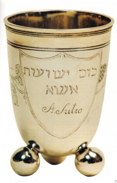 Kubek hawdalowy od Abrahama Sutro, Początek XIXwieku. Fundacja-NRW/Żydowskie Muzeum Westfalii