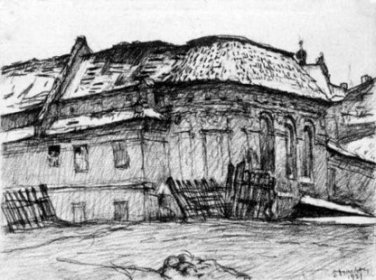 Symche Binem Trachter, Kościól św. Wojciecha