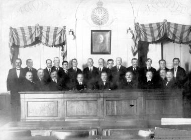 Rada Miasta Lublina w latach 1919-1927. Fotografia ze zbiorów Symchy Wajsa.