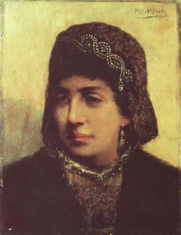 http://commons.wikimedia.org/wiki/File:Gottlieb-Head_of_a_Jewish_Bride_1876.jpg